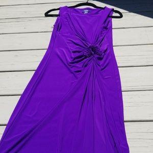 Purple Flower Detail Dress